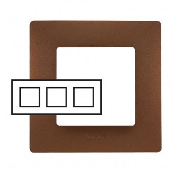 pvc тройна рамка, какао, legrand, niloe, 397073