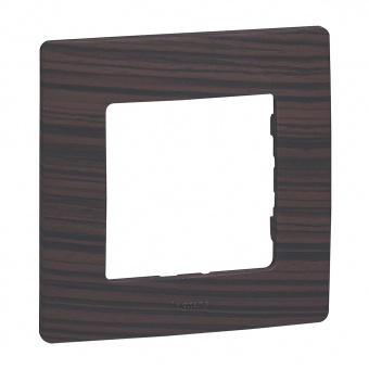 pvc единична рамка, тъмно дърво, legrand, niloe, 397091