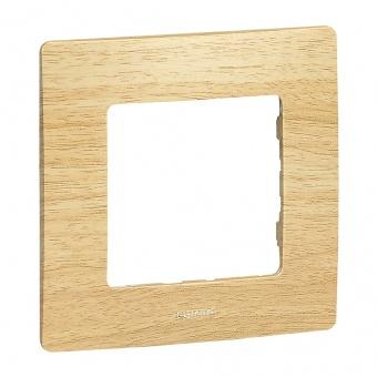 pvc единична рамка, светло дърво, legrand, niloe, 397095