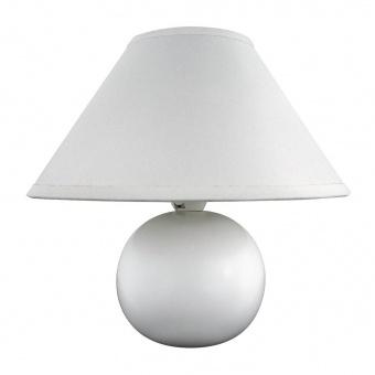 керамична настолна лампа, matte white, rabalux, ariel, 1x40w, 4901