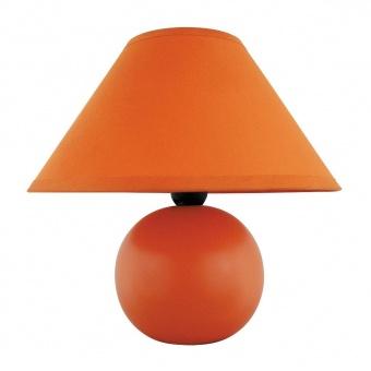 керамична настолна лампа, matte orange, rabalux, ariel, 1x40w, 4904