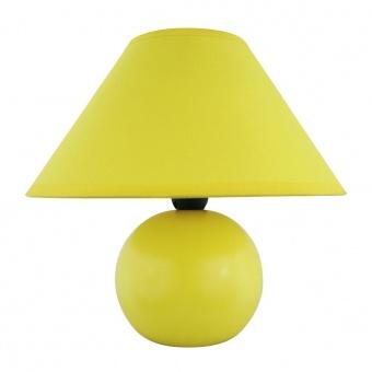 керамична настолна лампа, matte yellow, rabalux, ariel, 1x40w, 4905