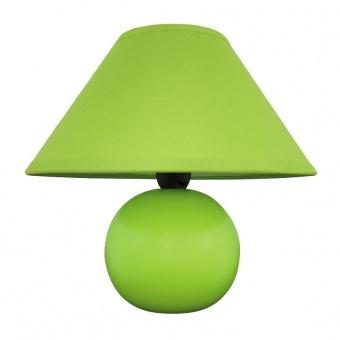 керамична настолна лампа, matte green, rabalux, ariel, 1x40w, 4907
