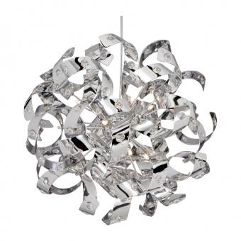 кристален полилей, chrome, searchlight, curls, 12x14w, 9812-12cc
