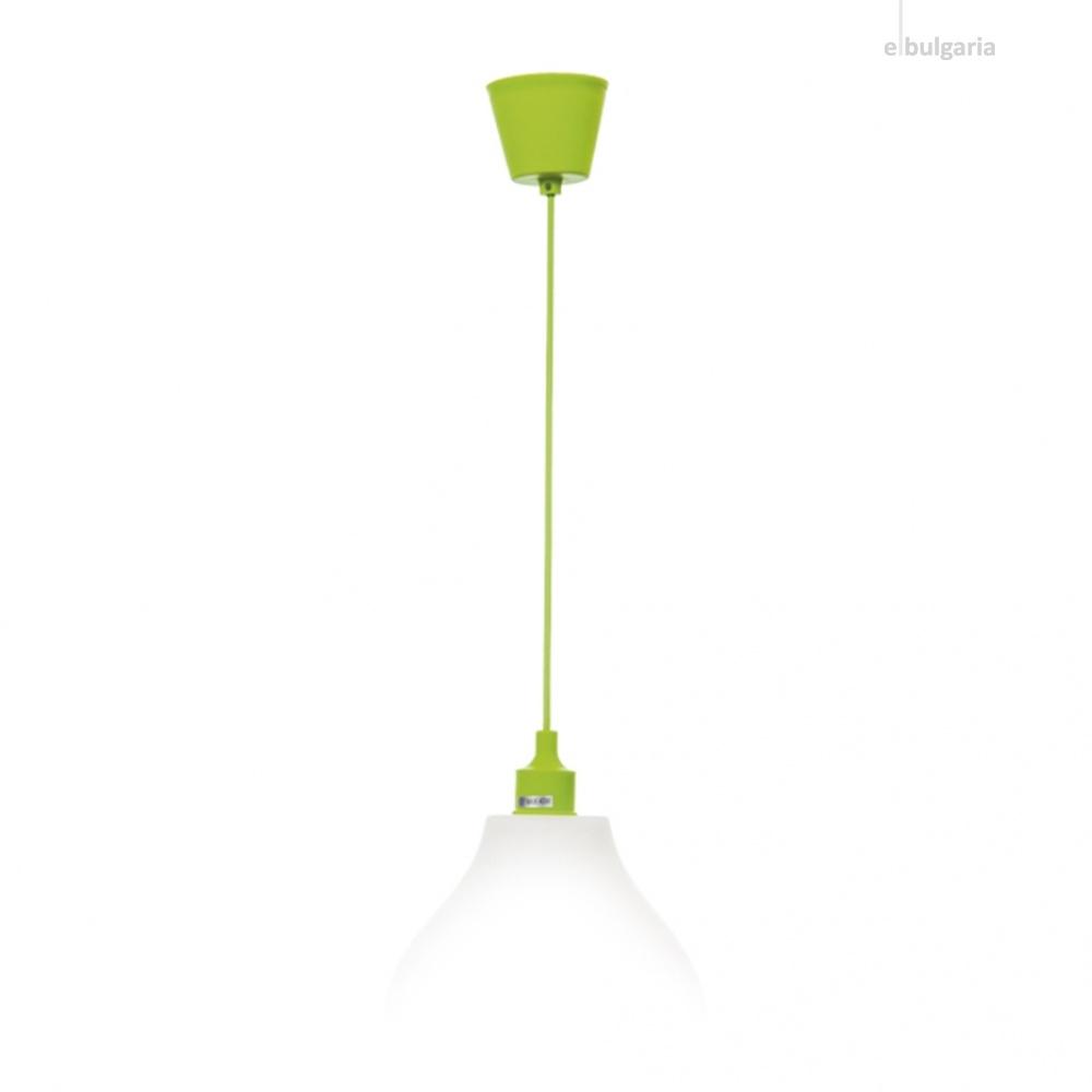 pvc пендел, зелен, elbulgaria, 1x40w, 1170 green
