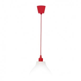 pvc пендел, червен, elbulgaria, 1x40w, 1170 red