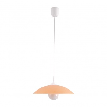 pvc пендел, orange/white, rabalux, cupola range, 1x60w, 4613