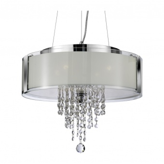 кристален полилей, chrome, searchlight, pendants, 4x10w, 7824-4cc
