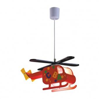 pvc пендел, multicolour, rabalux, helicopter, 1x40w, 4717