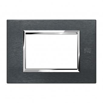 метална тримодулна рамка, karbon aluminium, simon urmet, expi, 13903.ak