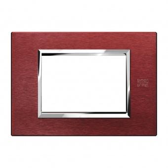 метална тримодулна рамка, red aluminium, simon urmet, expi, 13903.rs