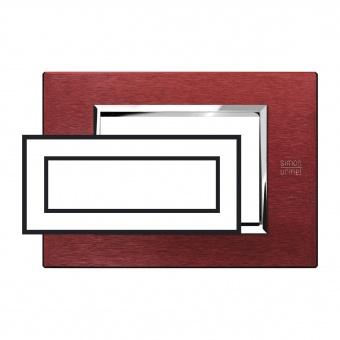 метална шестмодулна рамка, red aluminium, simon urmet, expi, 13906.rs
