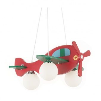 дървен полилей, rosso, ideal lux, avion-2 sp3, 3x40w, 136318