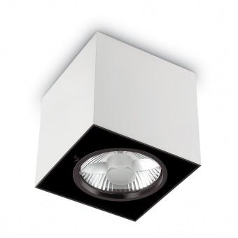 метална луна, bianco, ideal lux, mood pl1 big square, 1x50w, 140933