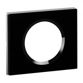 стъклена рамка черно стъкло, legrand, celiane, 69301