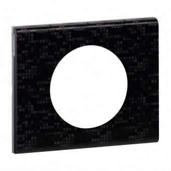 кожена рамка, черна мозайка, legrand, celiane, 69451
