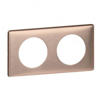 метална двойна рамка, мед, legrand, celiane, 68992