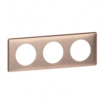 метална тройна рамка, мед, legrand, celiane, 68993