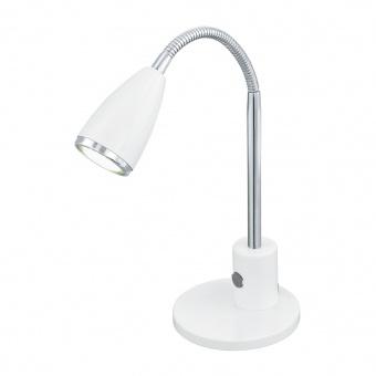 метална работна лампа, white, eglo, fox, led 1x3w, 3000k, 1x200lm, 92872