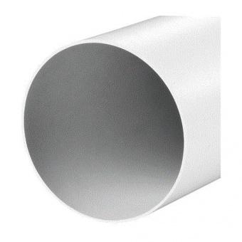 кръгъл въздуховод pvc, ф126-1000, бял, vents, 2010/2