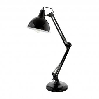 метална работна лампа, black, eglo, borgillio, 1x60w, 94697