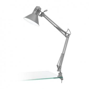 метална работна лампа, silver, eglo, firmo, 1x40w, 90874