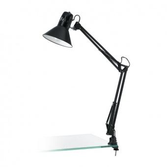 метална работна лампа, shiny black, eglo, firmo, 1x40w, 90873