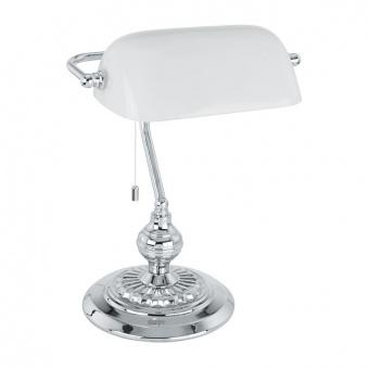 метална работна лампа, white, eglo, banker, 1x60w, 90968