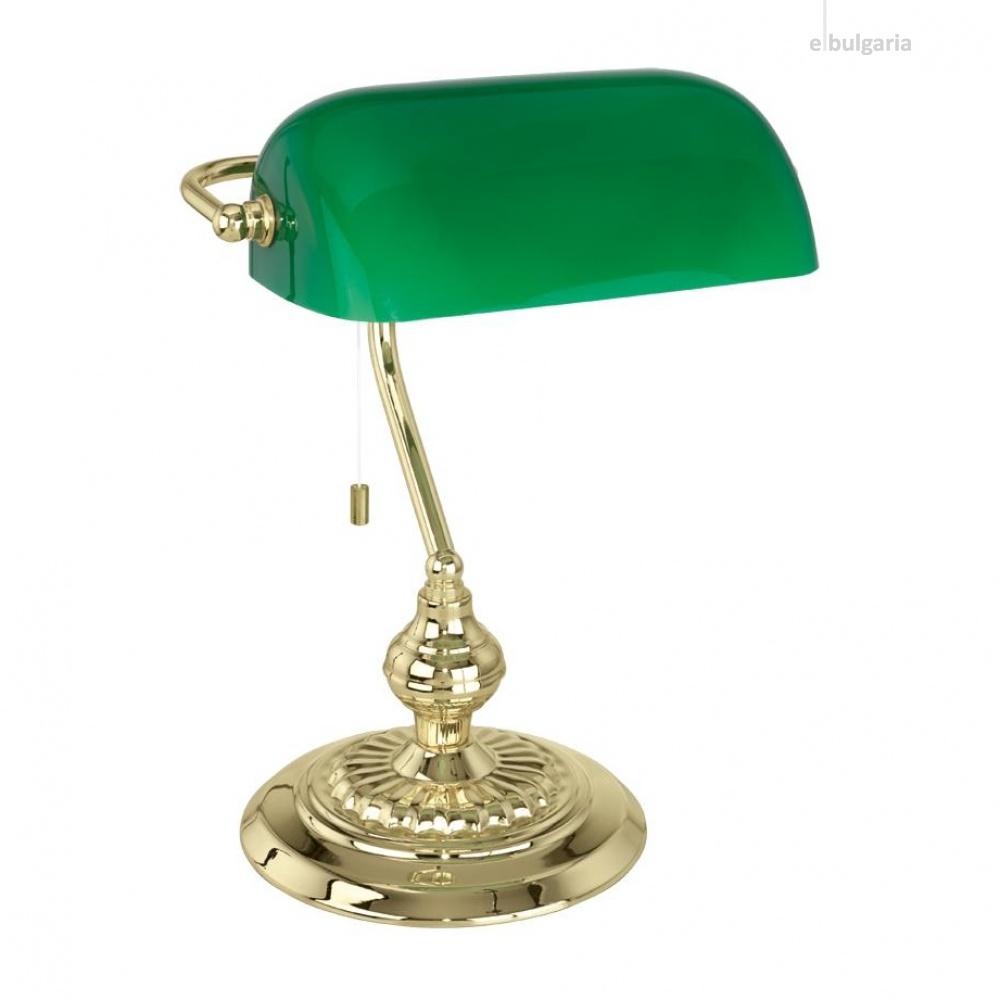 метална работна лампа, green, eglo, banker, 1x60w, 90967