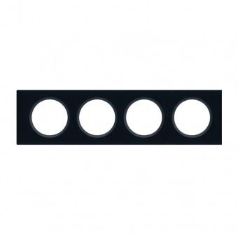 стъклена четворна рамка, черно стъкло, legrand, celiane, 69304