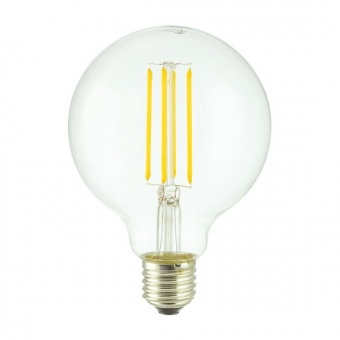 led лампа 7w, e27, топла светлина, 2700k, 800lm, 300°, led lamp filament g95
