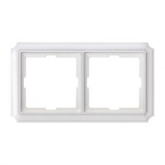 двойна рамка, полярно бял, schneider, merten antique, mtn483219