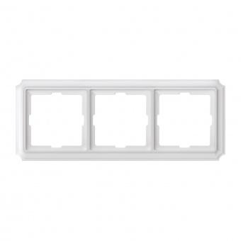 тройна рамка, полярно бял, schneider, merten antique, mtn483319