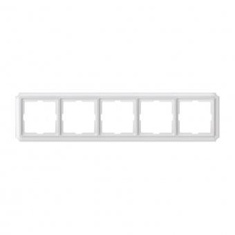 петорна рамка, полярно бял, schneider, merten antique, mtn483519