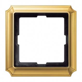 рамка, полиран месинг, schneider, merten antique, mtn483121