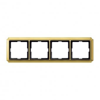 четворна рамка, полиран месинг, schneider, merten antique, mtn483421