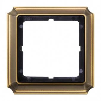 рамка, месинг, schneider, merten antique, mtn483143