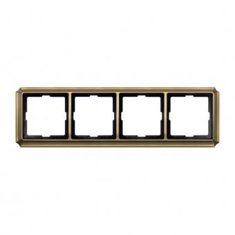 четворна рамка, месинг, schneider, merten antique, mtn483443
