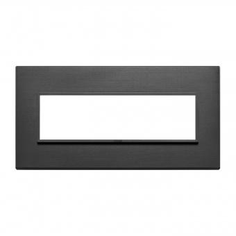 алуминиева седеммодулна рамка, total black, vimar, eikon evo, 21657.18