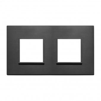 алуминиева рамка, total black, vimar, eikon evo, 21643.18