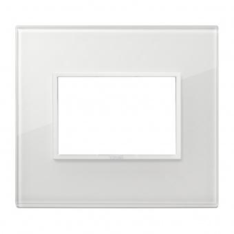 алуминиева тримодулна рамка, total white diamond, vimar, eikon evo, 21653.87
