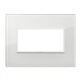 алуминиева четримодулна рамка, total white diamond, vimar, eikon evo, 21654.87