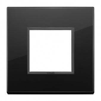 алуминиева рамка, total black diamond, vimar, eikon evo, 21642.88
