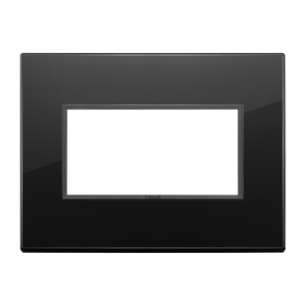 алуминиева четримодулна рамка, total black diamond, vimar, eikon evo, 21654.88