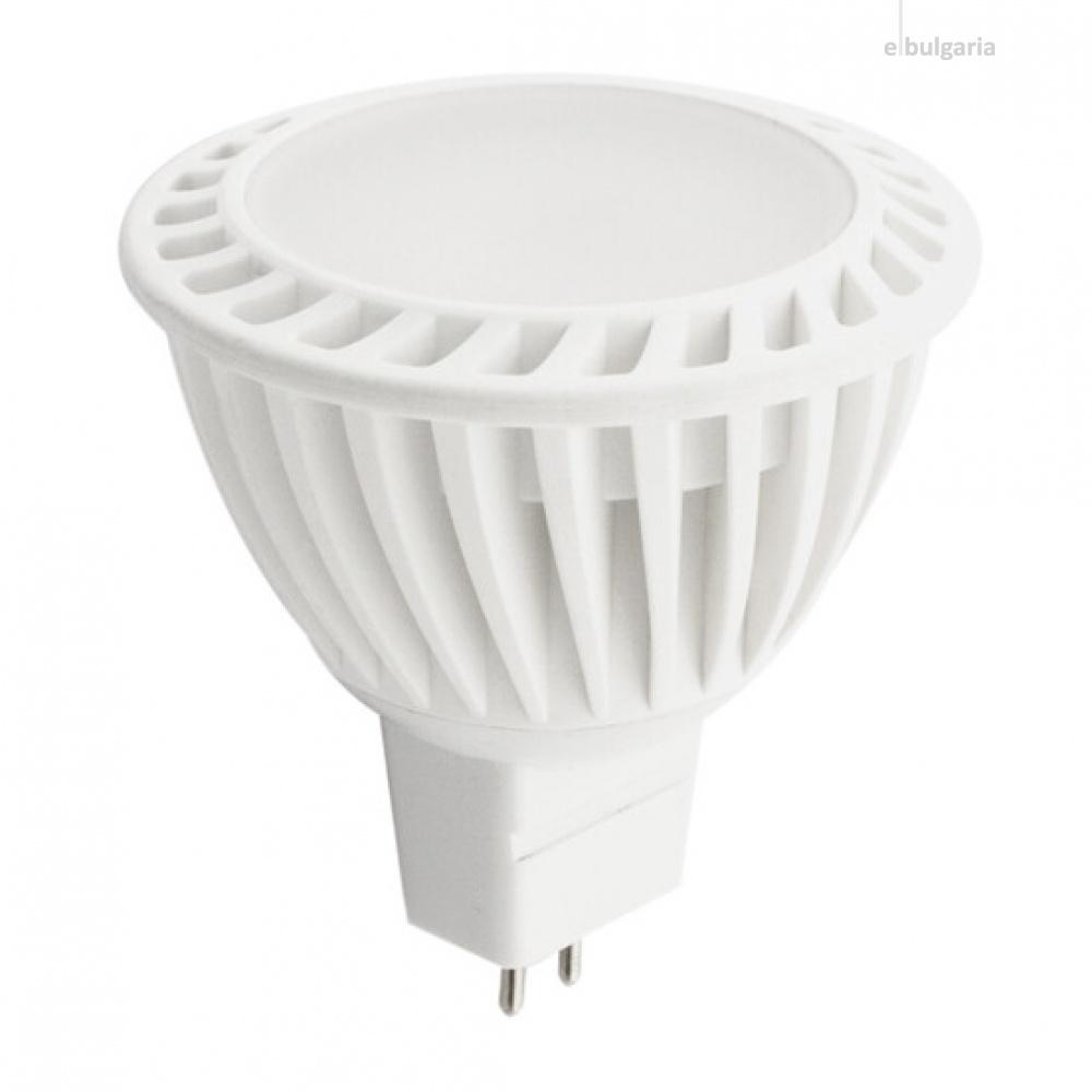 led лампа, 4w, mr16, бяла светлина, ultralux, 4200k, 340lm, l2s22016442