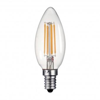 led лампа 2w, e14, filament, топла светлина, 2700k, 180lm, 300°, filament c35, 20443