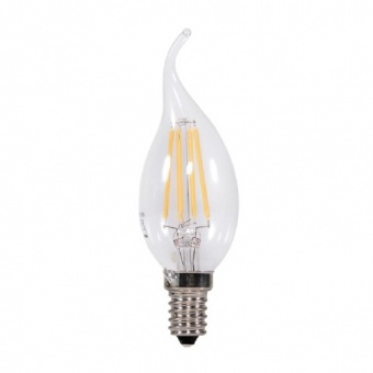 led лампа 2w, e14, filament, топла светлина, 2700k, 160lm, 300°, filament bt35 flame, 03453