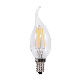 led лампа 4w, e14 filament, топла светлина, 2700k, 320lm, 300°, filament bt35 flame, L020107252