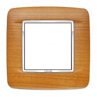 дървена рамка, american cherrywood, vimar, eikon chrome, 20672.C36