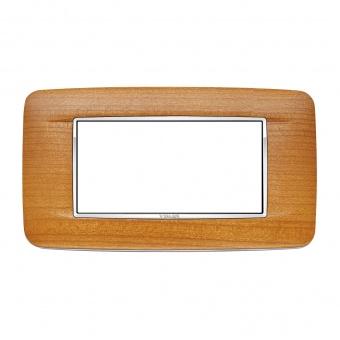 дървена четиримодулна рамка, american cherrywood, vimar, eikon chrome, 20684.C36